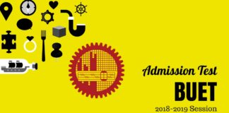 BUET Admission Test Circular 2018-2019