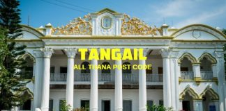 Tangail District – All Thana or Upazila Postcode or Zip Code
