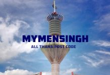 Mymensingh District – All Thana or Upazila Postcode or Zip Code