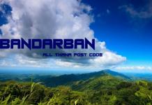 Bandarban District – All Thana or Upazila Postcode or Zip Code